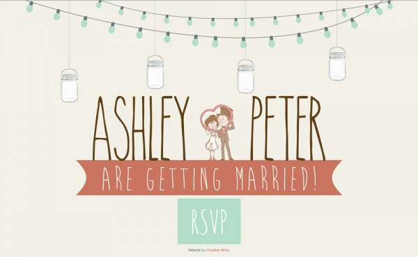Wedding Website for Ashley and Peter