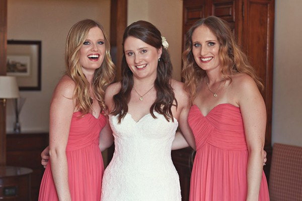 The bride with her two bridesmaids