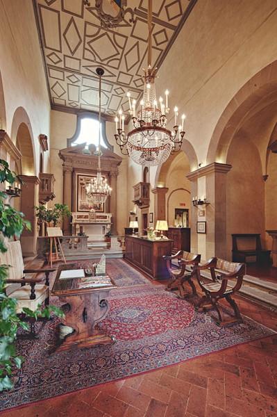 The Villa San Michele reception room