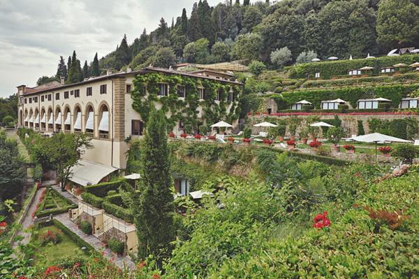 Villa San Michele on a hill