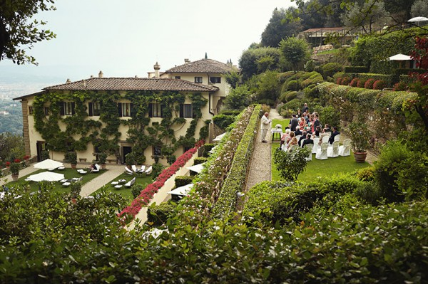 A view of the wedding ceremony from afar