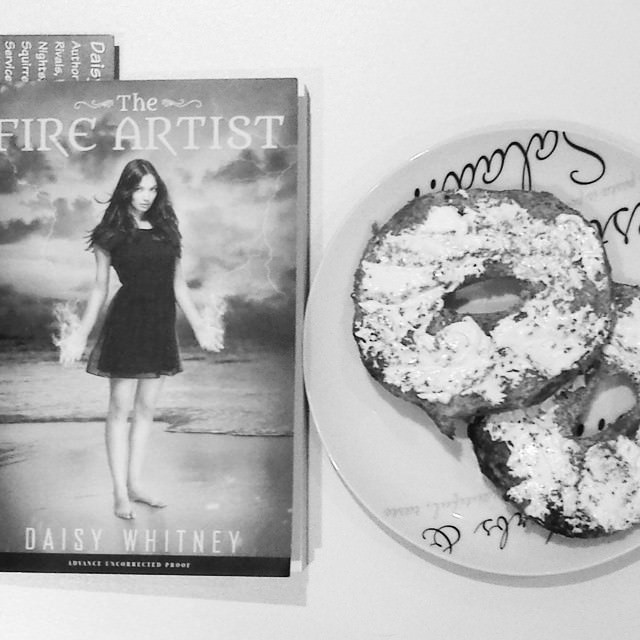 Reading and eating a bagel