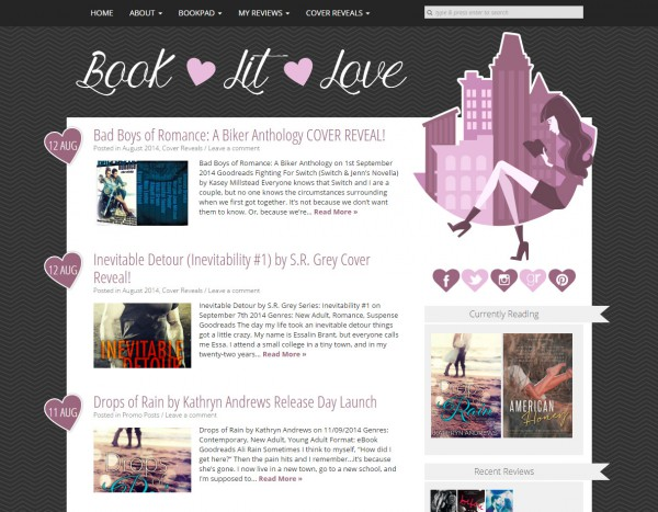 Book Lit Love blog design