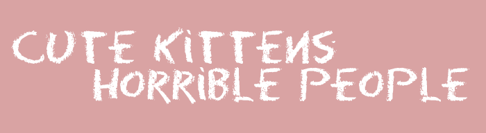 Cute Kittens, Horrible People and Ferguson
