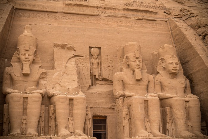The temple of Ramses II in Abu Simbel