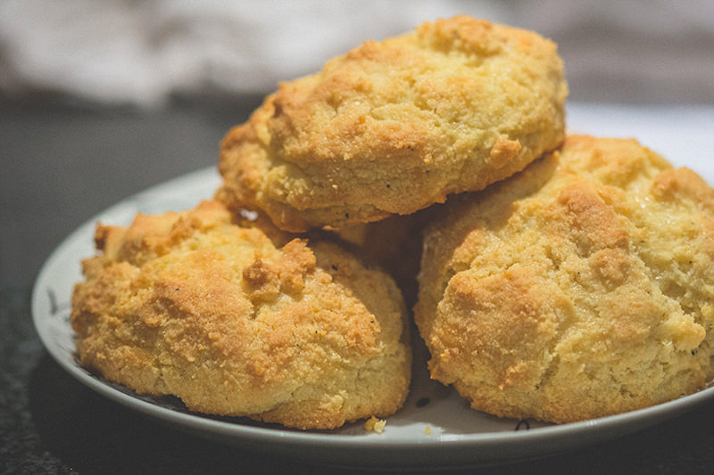 Low carb keto almond flour biscuits