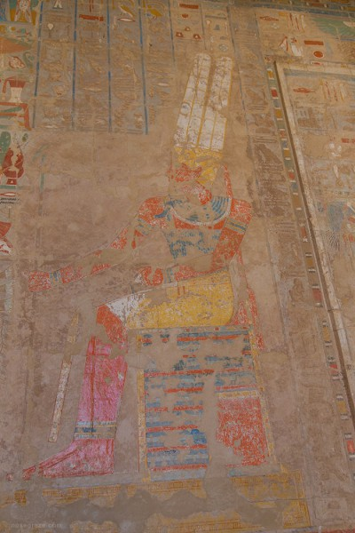 Paintings inside the Temple of Hatshepsut