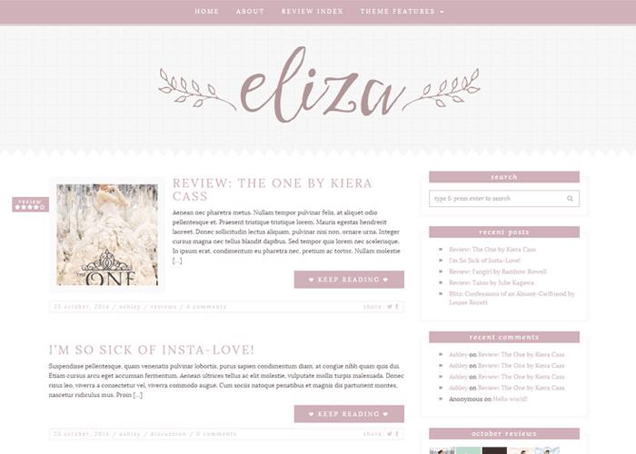 Eliza - An elegant feminine theme for WordPress