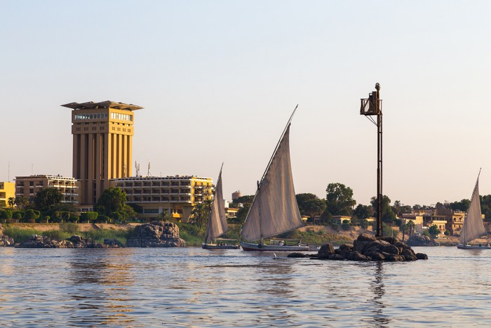 Felucca, an Egyptian sail boat