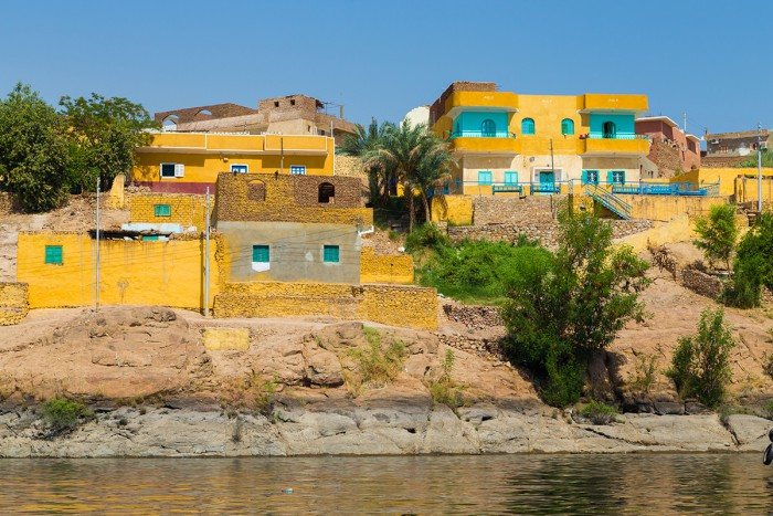 Houses overlooking the lake in Aswan