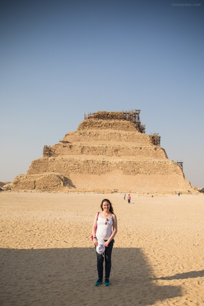 Ashley in front of the Step Pyramid