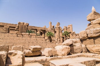 The ruins in Karnak Temple