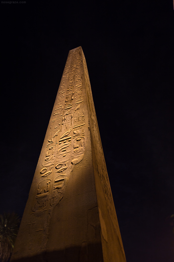 Obelisk at the Temple of Luxor