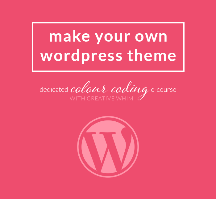 Make your own WordPress theme e-course