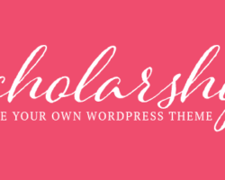 Win a Scholarship & Make Your Own WordPress Theme for FREE!