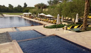 Mena House pool in Cairo