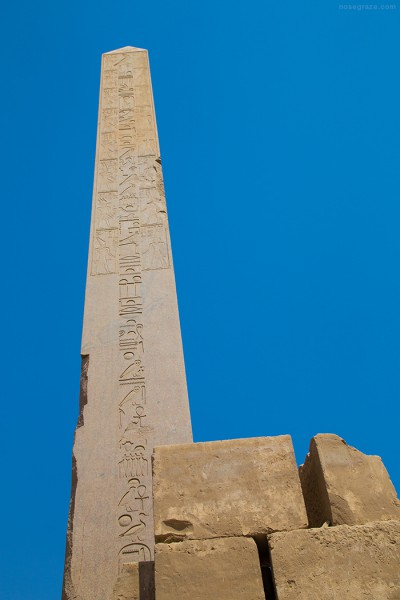 Standing obelisk in Karnak