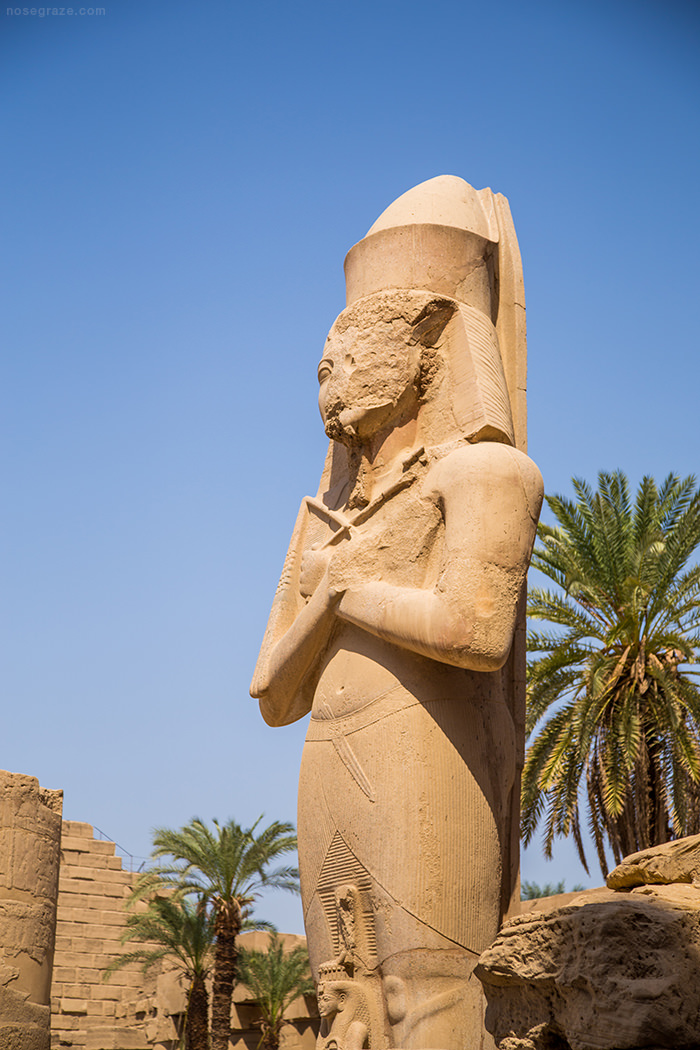 A statue inside the Temple of Karnak