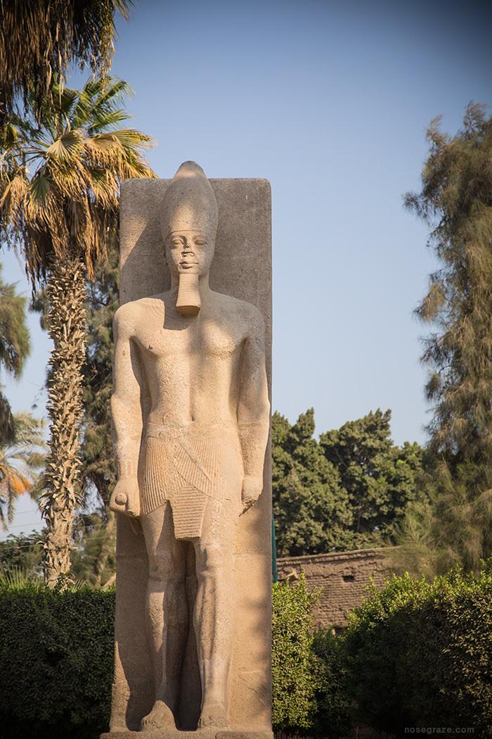 Ramses II statue in Memphis