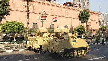 Tanks on the streets of Cairo