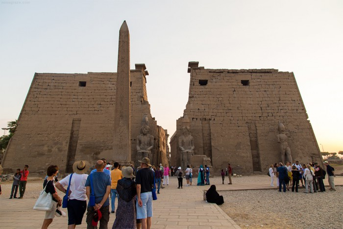 The front of the Temple of Luxor