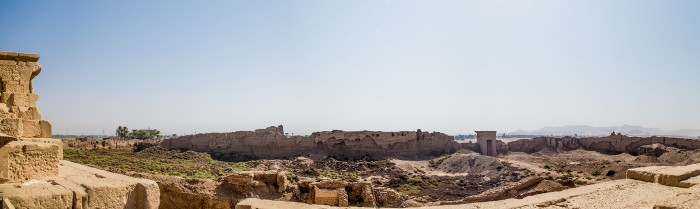 The view on top of the Temple of Hathor