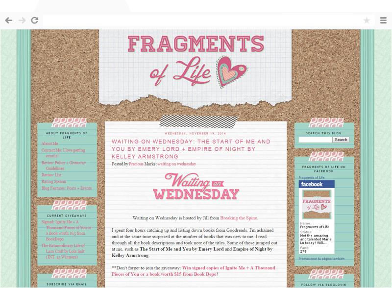 Fragments of Life blog design