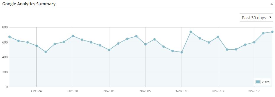 Google Analytics graph of visits