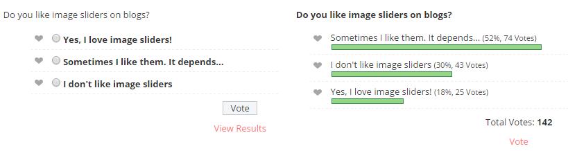Image slider poll using WP-Polls
