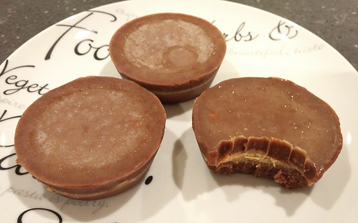 Keto friendly peanut butter cups