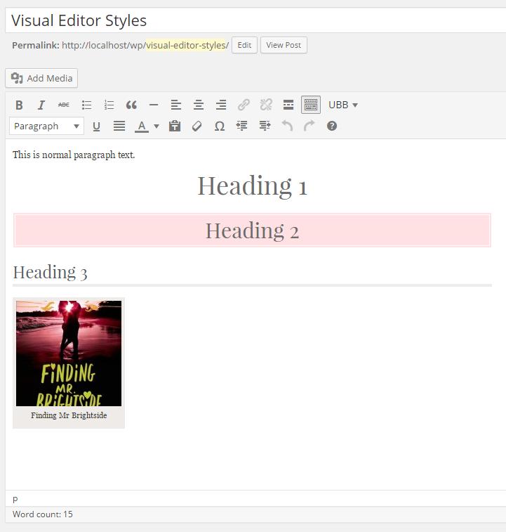 Custom stylesheet for the WordPress visual editor