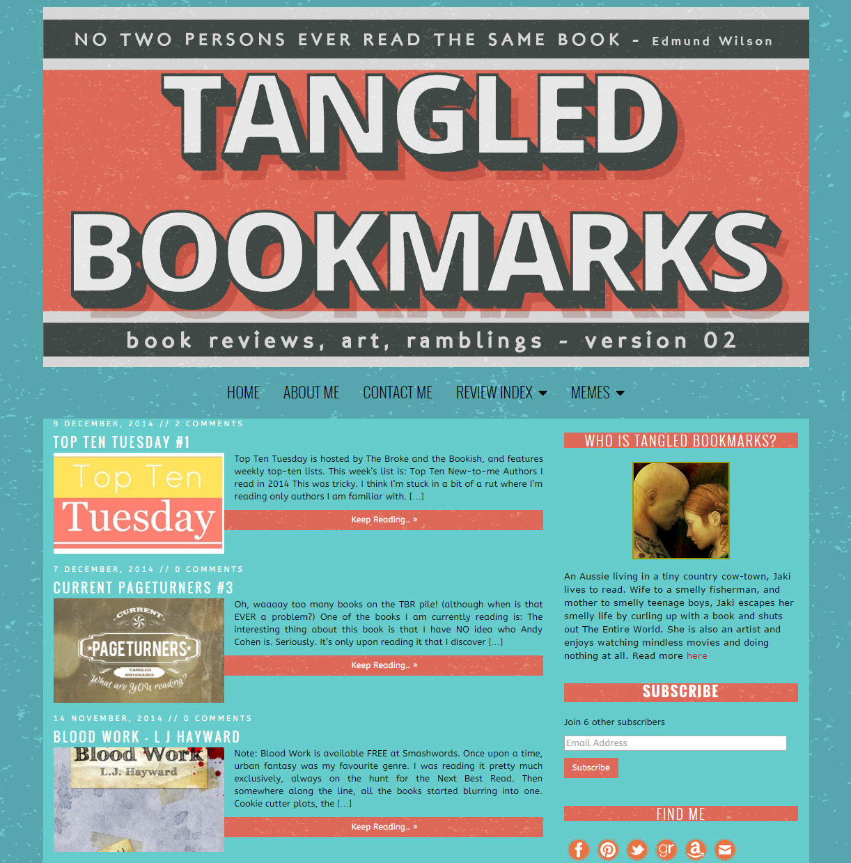 Tangled Bookmarks blog design
