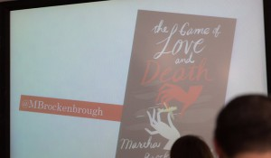 The Game of Love and Death on a powerpoint presentation