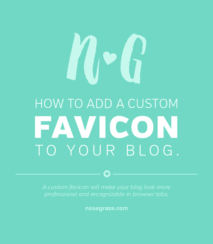 How to add a custom favicon to your blog