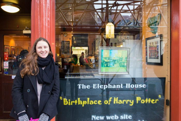 The Elephant House café in Edinburgh - the birthplace of Harry Potter