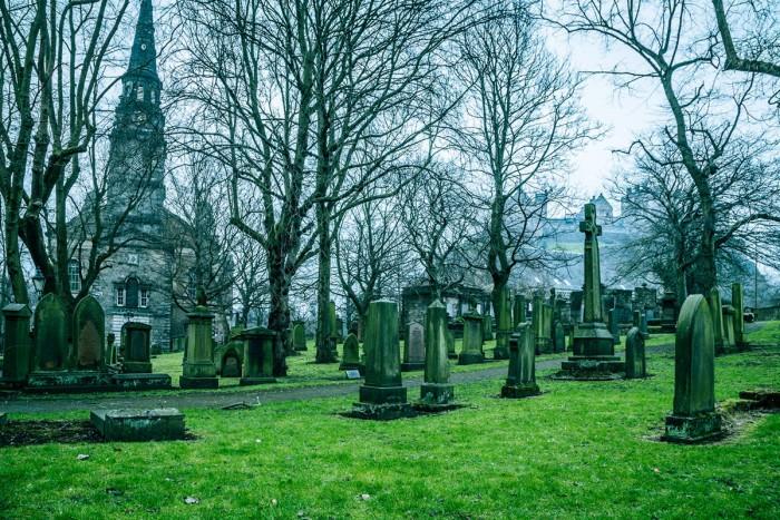 A graveyard in Edinburgh