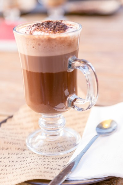 A glass of milk hot chocolate