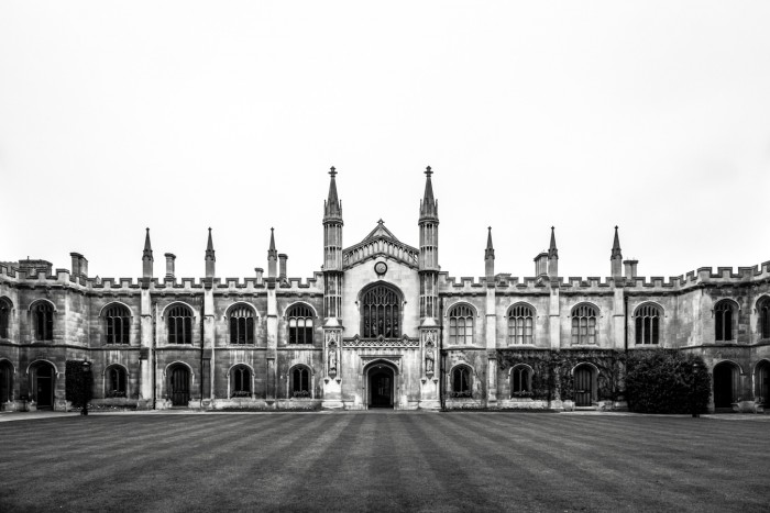 The front of King's College in Cambridge