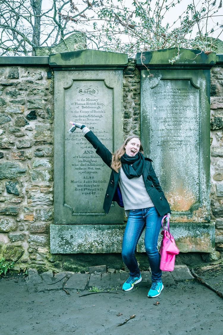 Tom Riddle's grave in Edinburgh