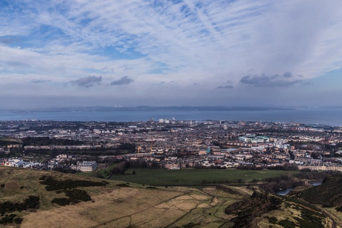 The city of Edinburgh as seen from Arthur's Seat