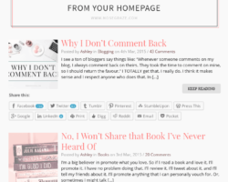 Remove Your Share Buttons from Your Homepage