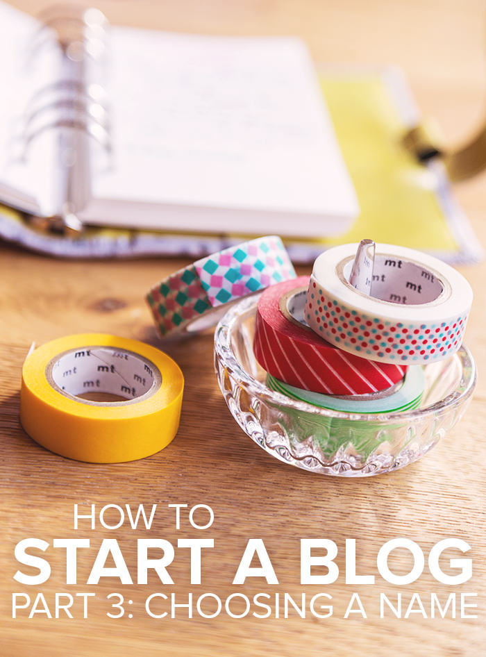 How to start a blog - part 3: choosing a name