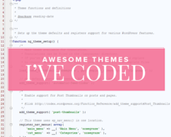Awesome WordPress Blogs I've Coded