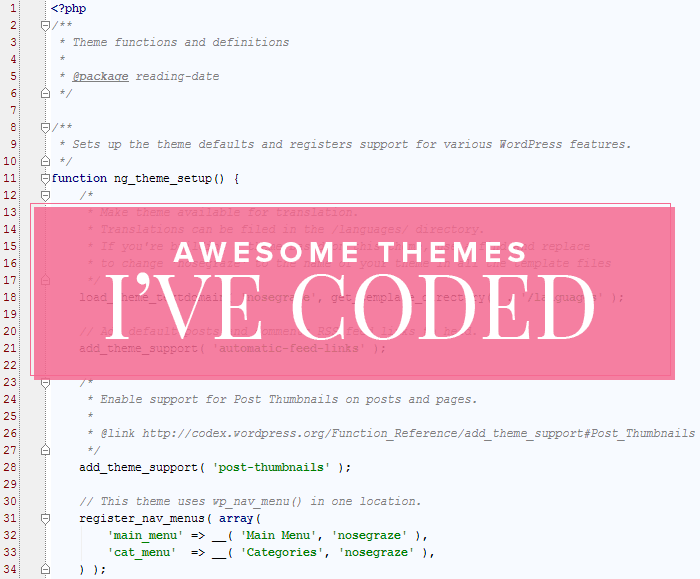 WordPress themes I've coded