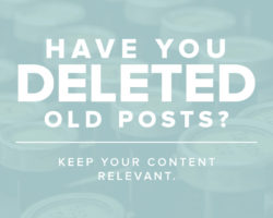 Have You Deleted Old Posts? I'm Re-Thinking My Stance!