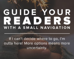 A Small Navigation Menu Will Help Guide Your Readers