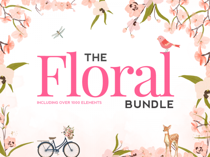 The Hungry JPEG's Floral Bundle