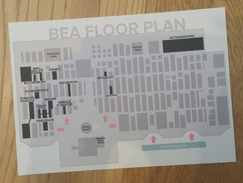 Floor plan printout for BookExpo America