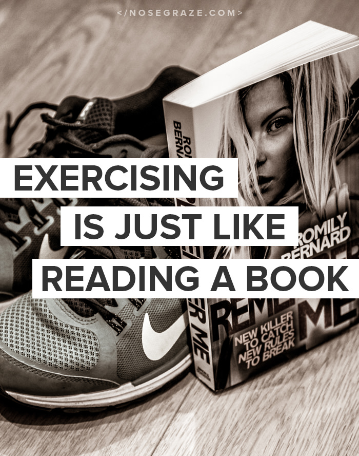 5 ways that exercising is just like reading a book