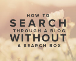How to Search Through a Blog That Doesn't Have a Search Box
